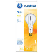 shop ge 300 watt ps soft white incandescent light bulb at lowes com