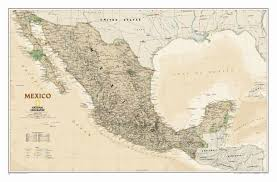 Gulf Of Mexico Depth Map by National Geographic Maps Mexico Classic Wall Map U0026 Reviews Wayfair