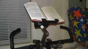 Recumbent Bike Desk Diy by How To Stationary Bike Book Holder Make