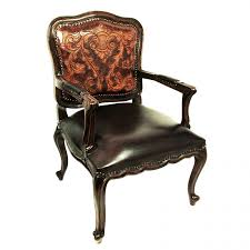 Western Leather Chair Western Furnishings Antlers San Antonio Leather Upholstery