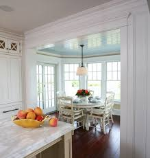 breakfast nook ideas kitchen farmhouse with built in seating beadboard