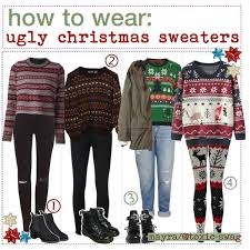 htw ugly christmas sweaters mayra polyvore