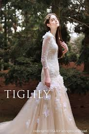 color wedding dresses white chagne color wedding dress w325 tiglily