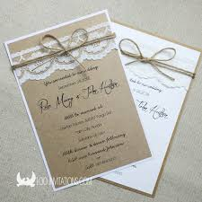 How To Make Your Own Wedding Invitations Rustic Lace Wedding Invitations Reduxsquad Com