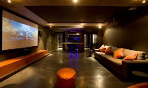 orange home and decor cool media rooms magnificent 20 cool media room love the ceiling