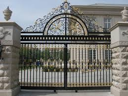manufacturer price ornamental wrought iron gates models for home