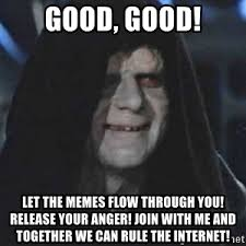 Let The Hate Flow Through You Meme - yes denver let the hate flow through you go hawks emperor