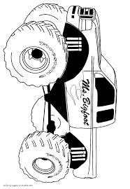 bigfoot truck coloring pages