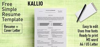 resume template microsoft word 2 free simple resume template microsoft word includes cover letter