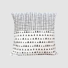 throw cushion black and white pillow cushion cover cotton