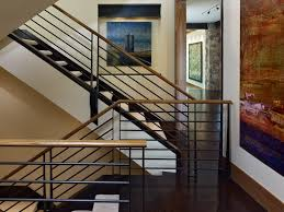 Banister Wall Brilliant Metal Stair Railing Staircase Contemporary With Metal