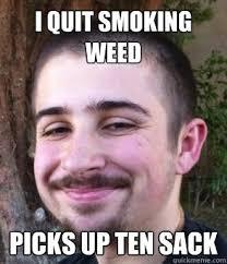 quits smoking weed