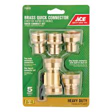 ace 5 piece brass coupling set quick connectors ace hardware