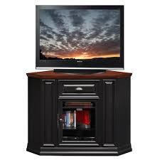 Corner Tv Cabinets For Flat Screens With Doors Furniture Tall Black Wooden Corner Tv Cabinet With Glass Door For