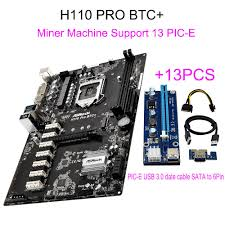 support ran ordinateur bureau for asrock h110 pro btc 13pcie 13pcs riser card for btc miner
