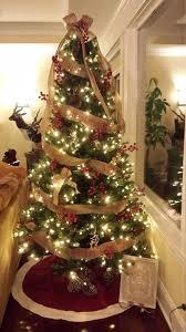 merry christmas burlap tree garland burlap christmas tree