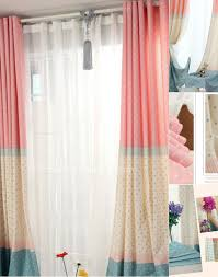 Pink Curtains For Girls Room Decor Chic Beige And Pink Girls Room Darkening Curtains And White
