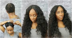 sew in with lace closure how to do a lace closure sew in tutorial no leave out