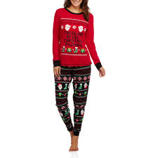 Christmas  Womens Christmas Pajamas  Long Sleeve Knit Sleep Top