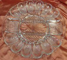 glass deviled egg platter vintage gold hobnail carnival indiana glass deviled egg relish