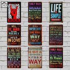 Signs And Plaques Home Decor Family Rules Signs Promotion Shop For Promotional Family Rules