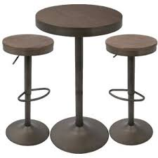 Bar Table And Stool Set Modern Bar Pub Tables Allmodern