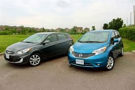 hyundai elantra 2013 vs 2014 comparison test 2013 hyundai accent vs 2014 nissan versa note