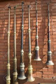 horns for sale tibetan horns on a brick wall in sale at
