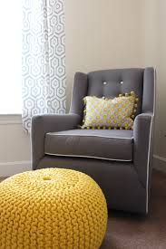 Target Nursery Furniture by Yellow And Gray Nursery Chair Target Pouf Cb2 Curtains Tj Maxx