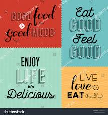 set vintage food quotes colorful designs stock vector 414162979