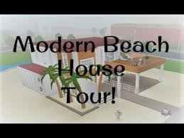 Modern Beach House Modern Beach House Tour Welcome To Bloxburg Youtube