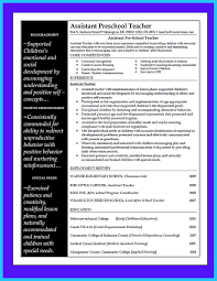 sample resume for preschool teacher assistant resume for study