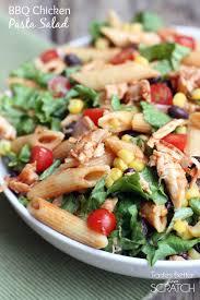 bbq chicken pasta salad tastes better from scratch