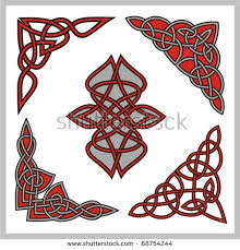 set celtic ornamental designs stock vector 68754247