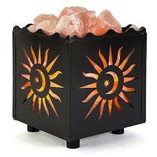 ebay himalayan salt l crystal decor natural himalayan salt l in metal basket w