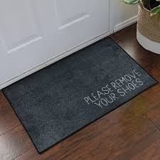 Commercial Doormat Please Remove Your Shoes Message Doormat Grey Floormatshop Com