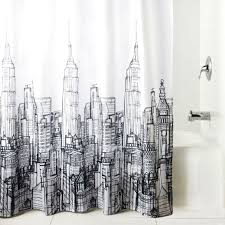The Latest In Shower Curtain Cityscape Shower Curtain Dotandbo Com Mid Century Industrial