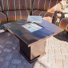 gas pit glass belleze gas outdoor pit glass table with hammered