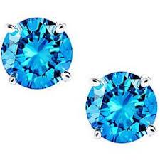 blue diamond stud earrings 1 95 carat fancy diamond pave halo diamond studs earrings 18k