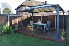 Patio Gazebos by Amazon Com Palram Martinique Gazebo 10 X 14 Gray Patio Lawn