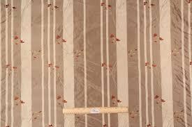 Stripe Drapery Fabric Yards Embroidered Silk Stripe Drapery Fabric In Portobello