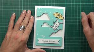 Youtube Baby Shower Ideas by Partial Die Cutting Technique Baby Shower Card Youtube