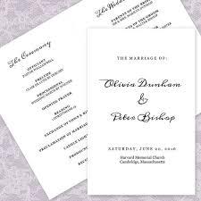 Easy Wedding Program Template The 25 Best Print Your Own Wedding Programs Ideas On Pinterest