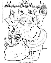 santa claus coloring pages santa claus leaving toys honkingdonkey