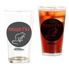 Unique Kitchen Gifts Parks And Recreation Mouse Rat Circle Drinking Glass