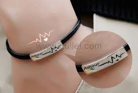 his and hers engraved bracelets engravable amour couples bracelets for him and