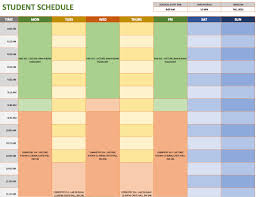 Study Schedule Template Excel Free Weekly Schedule Templates For Excel Smartsheet