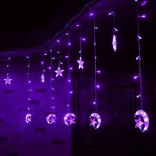 6m 168 led light string moon shape curtain light