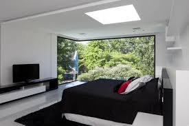 Black And White And Red Bedroom - carrara house black white red bedroom interior design ideas