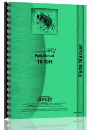rumely 16 30 h oil pull tractor parts manual advance rumely
